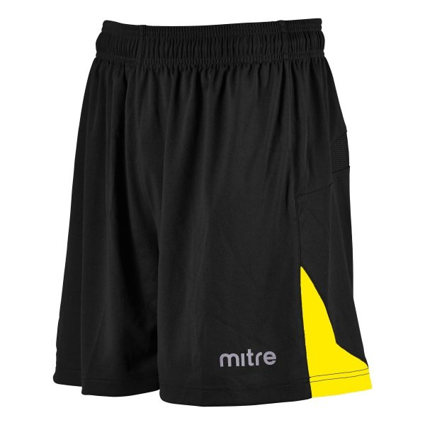 Mitre Prism Black/Yellow Football Short