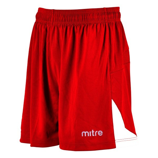 Mitre Prism Scarlet/White Football Short