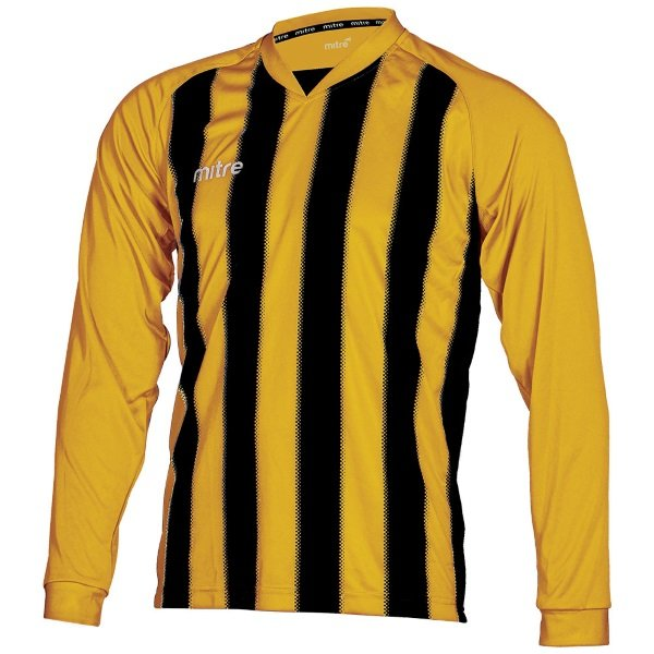 Mitre Optimize Amber/Black Football Shirt