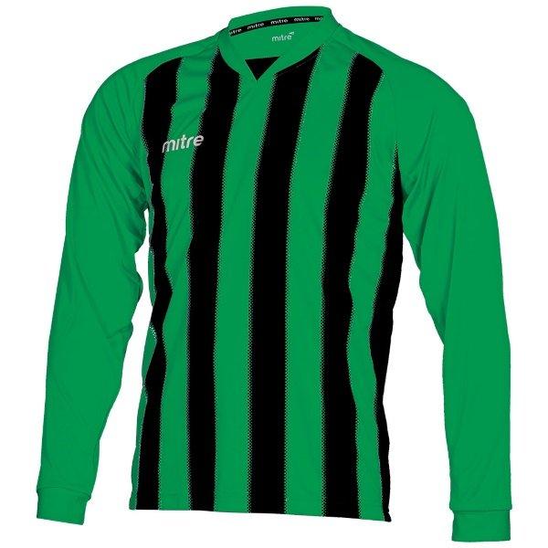 Mitre Optimize Emerald/Black Football Shirt