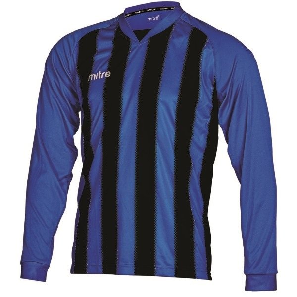 Mitre Optimize Royal/Black Football Shirt