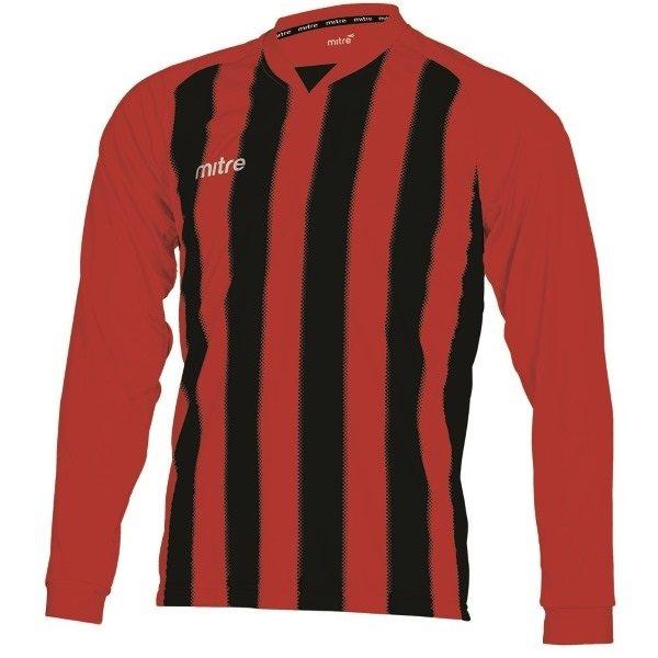 Mitre Optimize Scarlet/Black Football Shirt