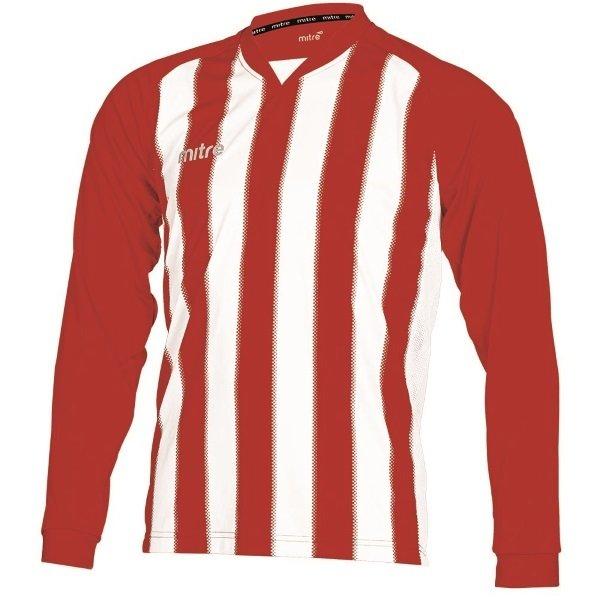 Mitre Optimize Scarlet/White Football Shirt