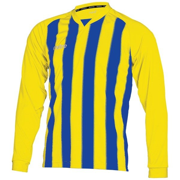 Mitre Optimize Yellow/Royal Football Shirt