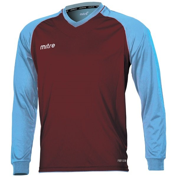 Mitre Cabrio Maroon/Sky Football Shirt