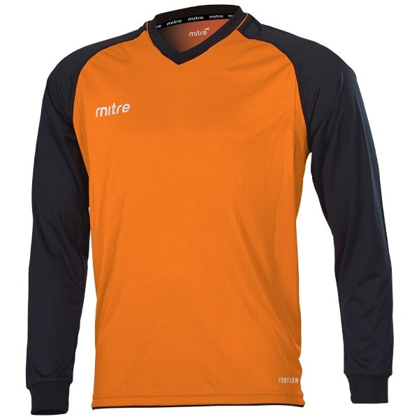 Mitre Cabrio Tangerine/Black Football Shirt