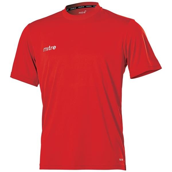 Mitre Camero Scarlet Football Shirt
