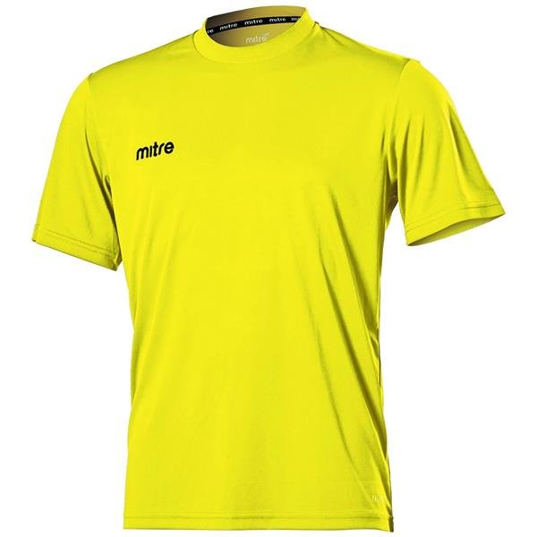 Mitre Camero Yellow Football Shirt