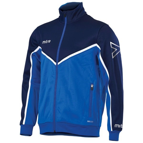 Mitre Primero Poly Track Jacket Royal/yellow
