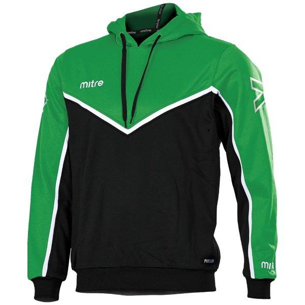 Mitre Primero Poly Hoody Black/Emerald