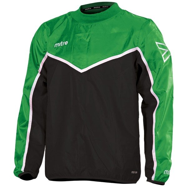 Mitre Primero Overhead Jacket Black/Emerald