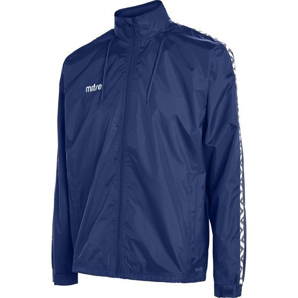 Mitre Delta Navy/White Rain Jacket