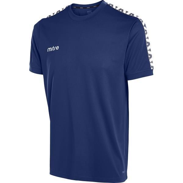 Mitre Delta Navy/White T-Shirt