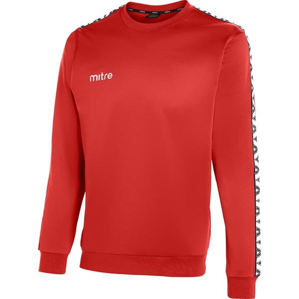 Mitre Delta Scarlet/White Poly Top