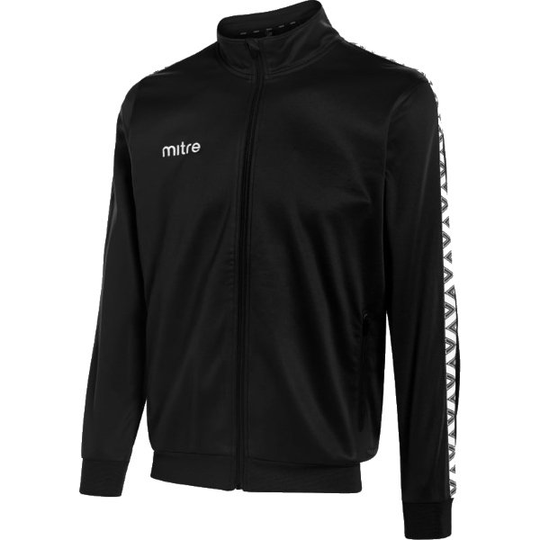 Mitre Delta Poly Track Jacket White/black