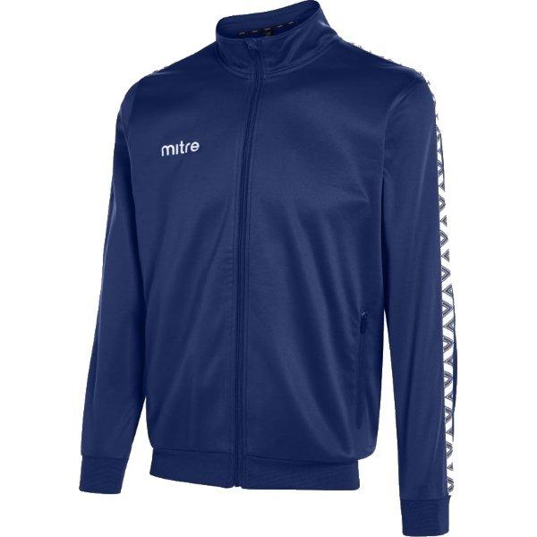 Mitre Delta Navy/White Poly Track Jacket