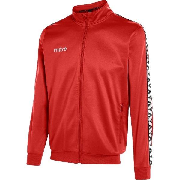 Mitre Delta Scarlet/White Poly Track Jacket