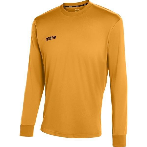 Mitre Camero Long Sleeve Amber Football Shirt