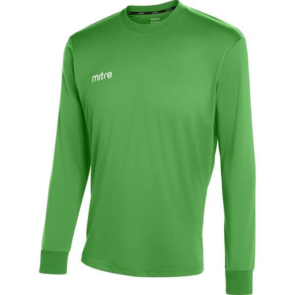 Mitre Camero Long Sleeve Emerald Football Shirt