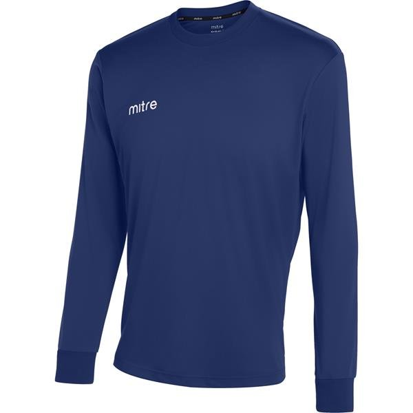 Mitre Camero Long Sleeve Navy Football Shirt