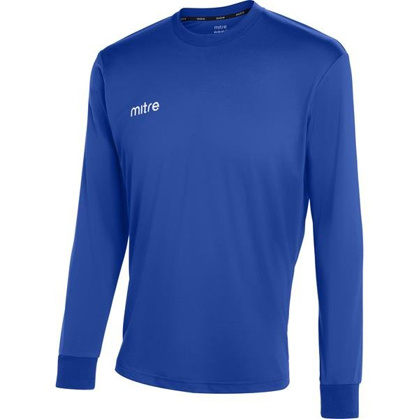 Mitre Camero LS Football Shirt Yellow/royal