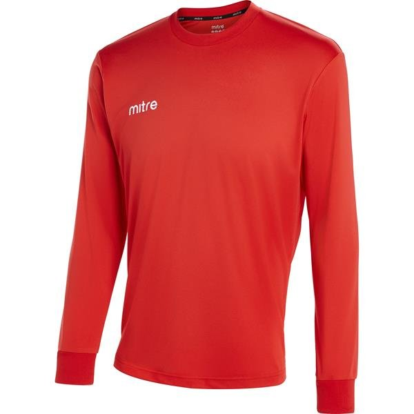 Mitre Camero Long Sleeve Scarlet Football Shirt