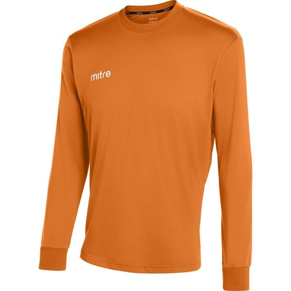 Mitre Camero Long Sleeve Tangerine Football Shirt