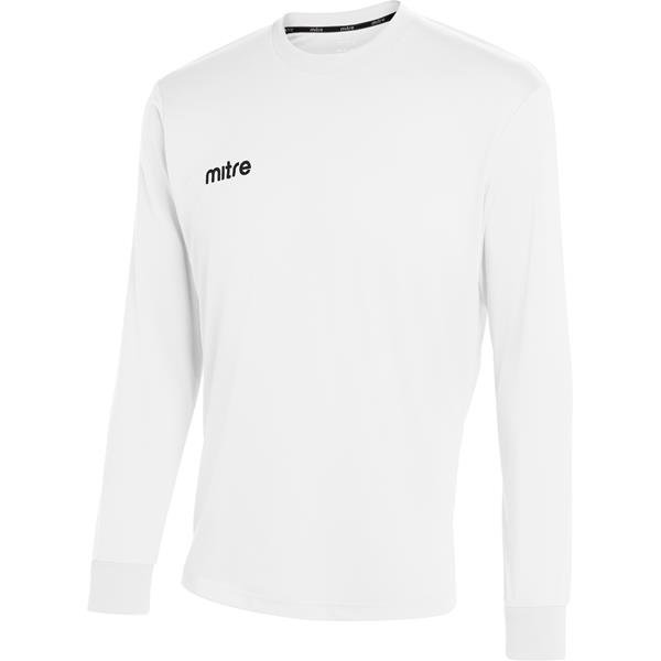 Mitre Camero Long Sleeve White Football Shirt
