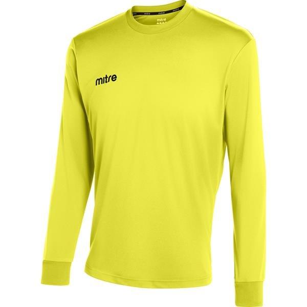 Mitre Camero Long Sleeve Yellow Football Shirt