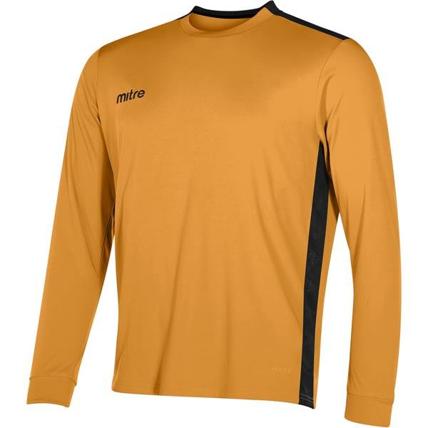 Mitre Charge Long Sleeve Football Shirt Yellow/emerald