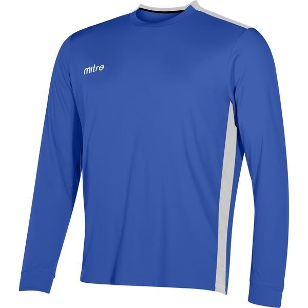 Mitre Charge Long Sleeve Royal/White Football Shirt