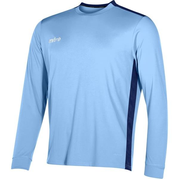 Mitre Charge Long Sleeve Sky/Navy Football Shirt