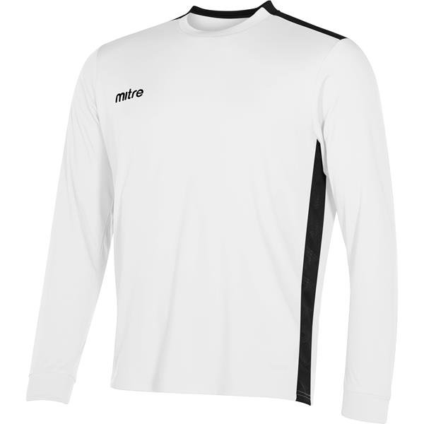 Mitre Charge Long Sleeve White/Black Football Shirt