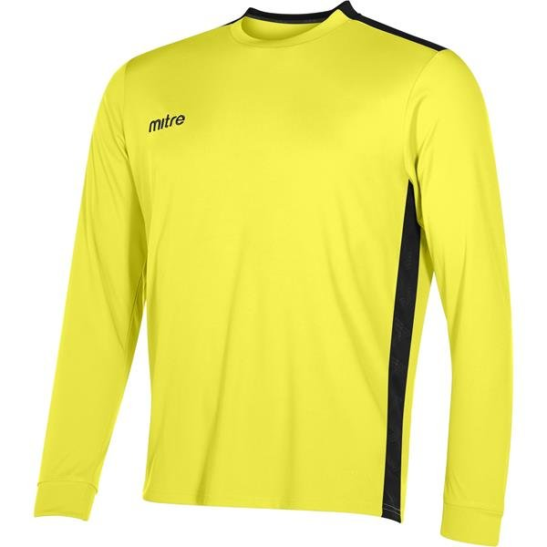 Mitre Charge Long Sleeve Yellow/Black Football Shirt