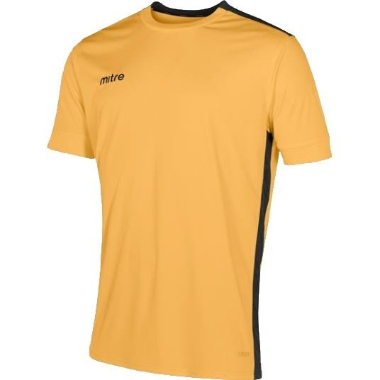 Mitre Charge Short Sleeve Football Shirt Yellow/black