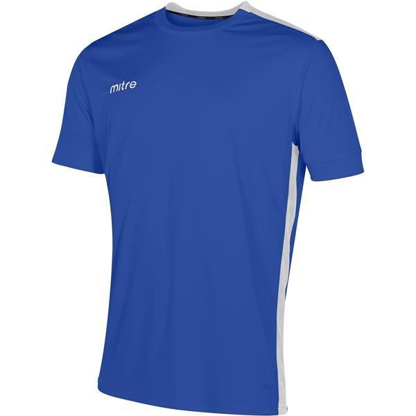 Mitre Charge Short Sleeve Royal/White Football Shirt