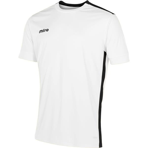 Mitre Charge Short Sleeve White/Black Football Shirt
