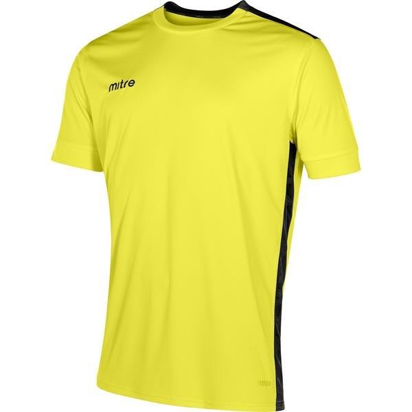 Mitre Charge Short Sleeve Yellow/Black Football Shirt