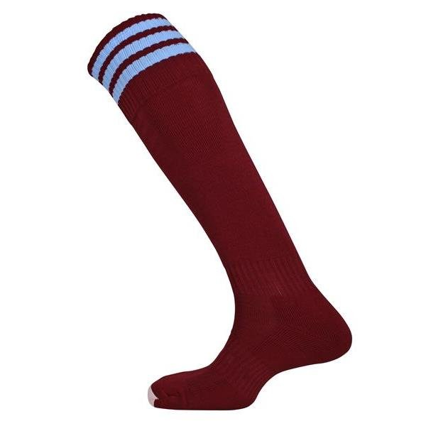Mercury Three Stripe Maroon/Sky Sock