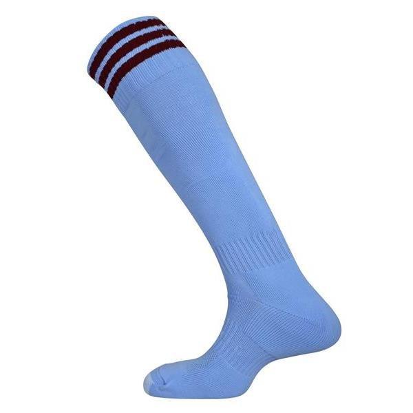 Mercury Three Stripe Sky/Maroon Sock