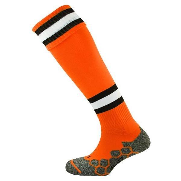 Division Tec Tangerine/Black/White Football Sock