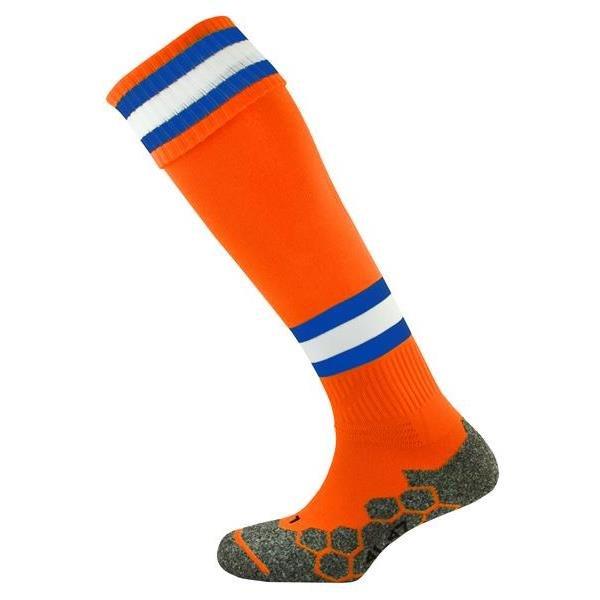 Division Tec Tangerine/Royal/White Football Sock