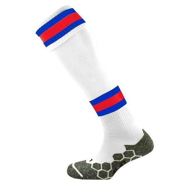Division Tec White/Royal/Scarlet Football Sock