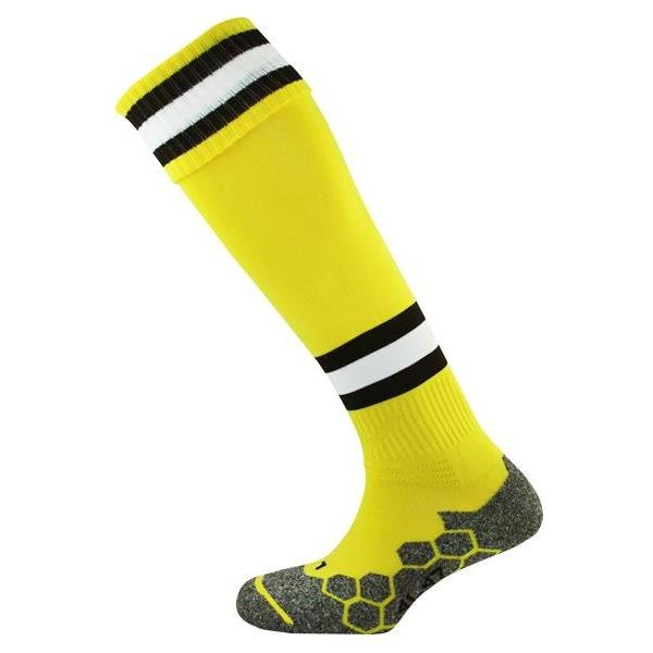 Prostar Division Tec Yellow/Black/White Football Sock