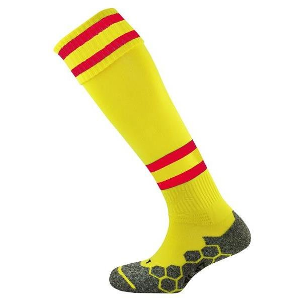 Division Tec Yellow/Scarlet Football Sock