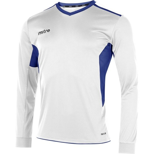 Mitre Diverge White/Royal Football Shirt