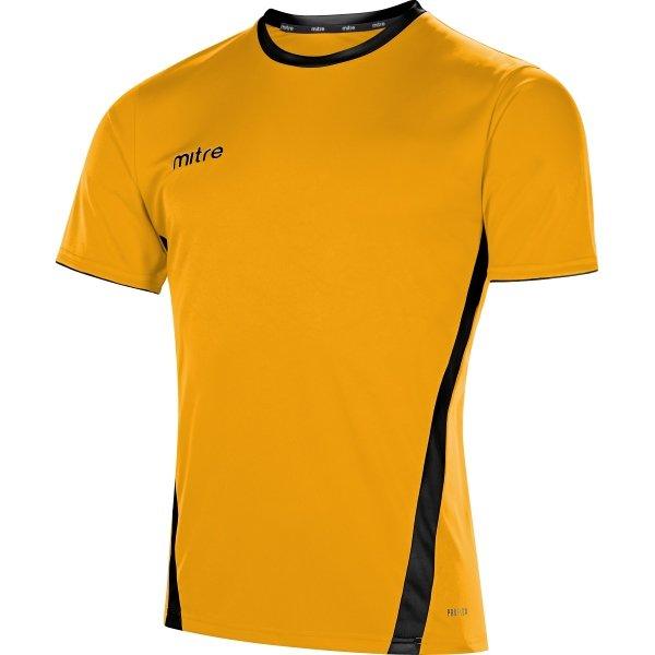 Mitre Origin Short Sleeve Football Shirt Yellow