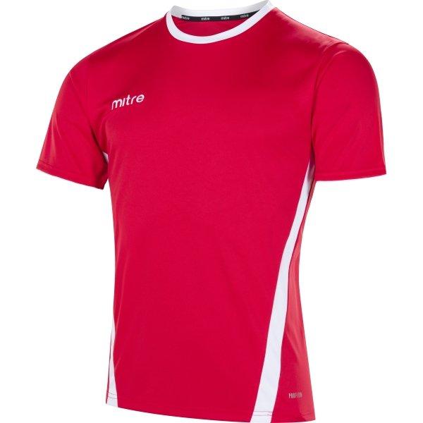 Mitre Origin Short Sleeve Scarlet/White Football Shirt