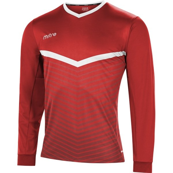 Mitre Unite Scarlet/White Football Shirt