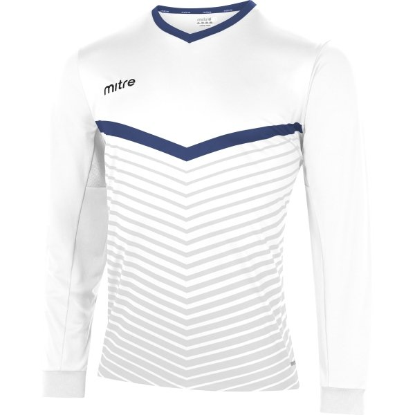 Mitre Unite White/Royal Football Shirt